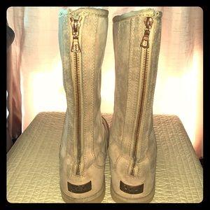 UGG Knightsbridge Tall Camel ZIP Back Boots
